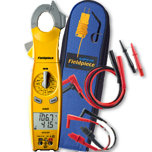 Fieldpiece Dual Display 400AAC Swivel Clamp Meter with Temperature SC620-Fieldpiece HVAC Tool-Fieldpiece-Cool Tools HVAC-R