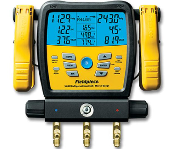 Fieldpiece 2 Valve Digital Manifold with Data Logging - NEW PRODUCT - SMAN380vINT-Refrigerant Gauges-Fieldpiece-Cool Tools HVAC-R