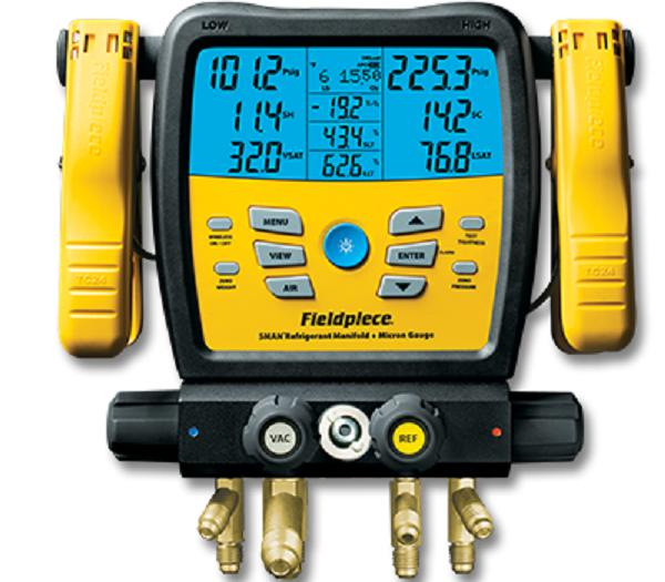 Fieldpiece Wireless 4 Valve Digital Manifold - NEW PRODUCT - SMAN480vINT-Refrigerant Gauges-Fieldpiece-Cool Tools HVAC-R