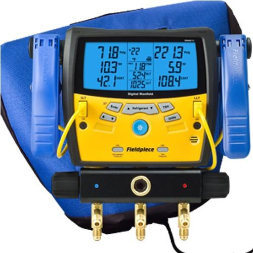 Fieldpiece Standard 3-Port Manifold with clamps and bag SMAN340-Refrigerant Gauges-Fieldpiece-Cool Tools HVAC-R