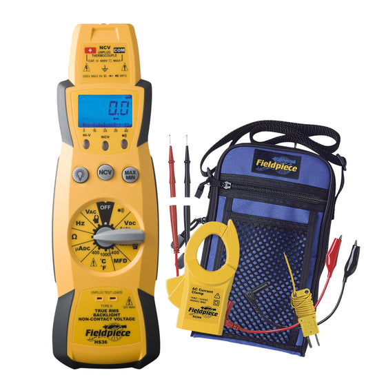 Fieldpiece True RMS Expandable Multimeter Kit with Clamp Head HS36-Fieldpiece-Cool Tools HVAC-R