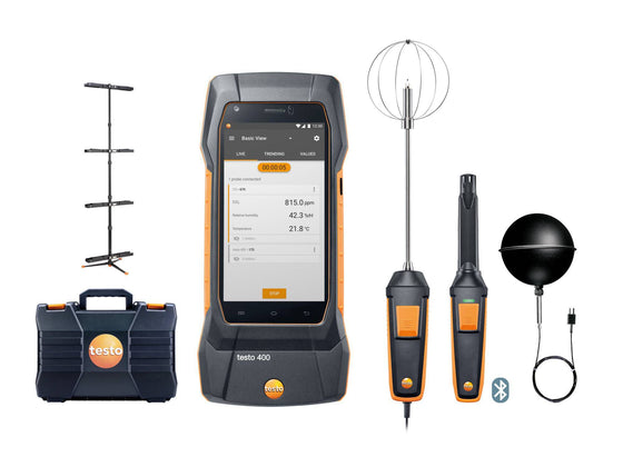 Testo 400 Indoor Air Quality and Comfort Kit with Tripod - 0563 0401