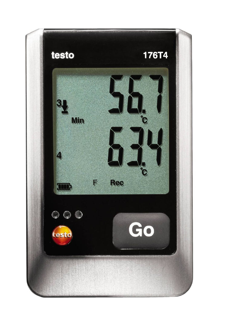 Testo 176 T4 Four Channel Temperature Data Logger with External Sensor Connection - 0572 1764