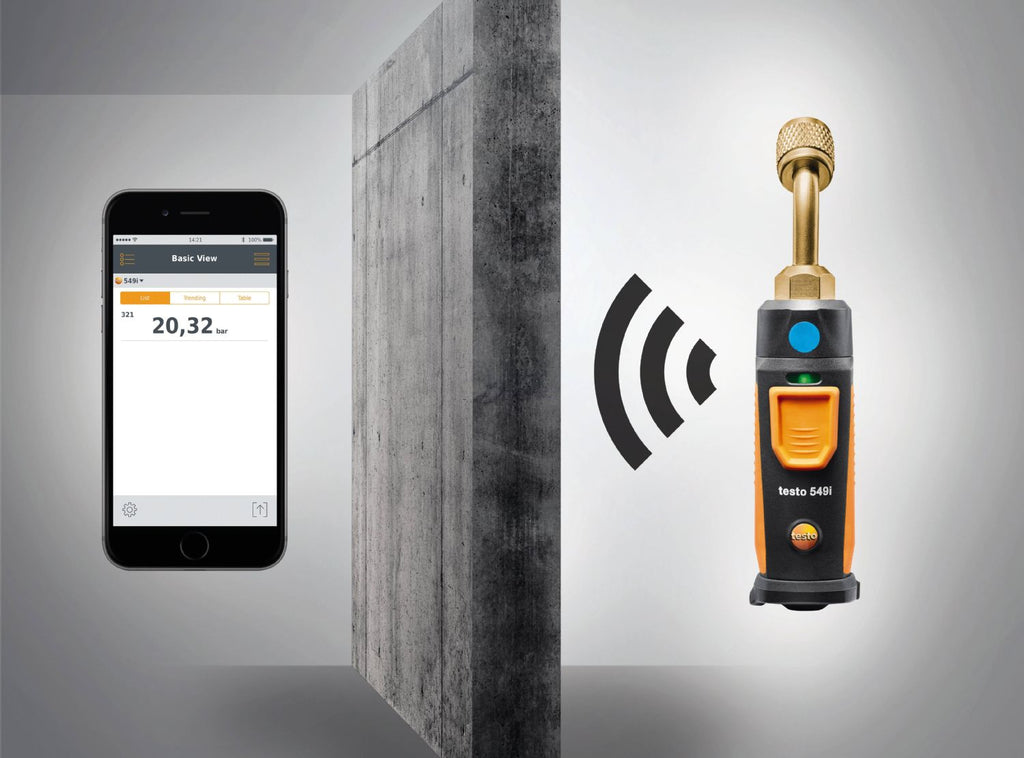 Testo 549i Gen2 - Smart High Pressure Meter operated with your smartphone - 0560 2549 02