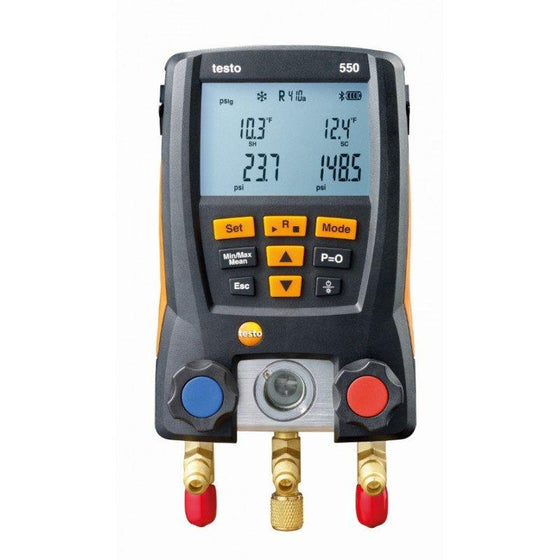 Testo 550 Digital Refrigeration Gauges with Bluetooth 05631550-Refrigerant Gauges-Testo-Cool Tools HVAC-R