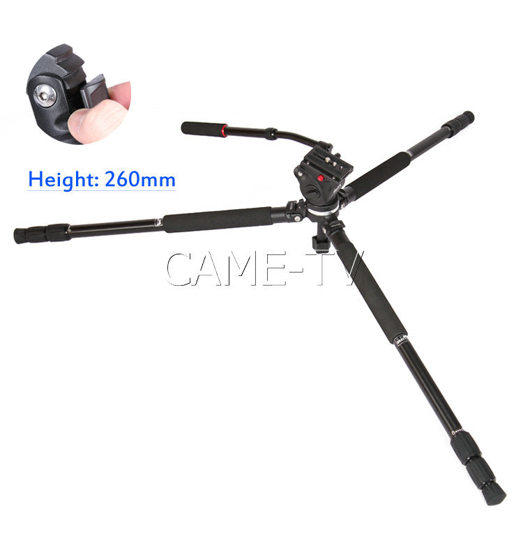 CAME-TV Tripod Max Load 5 Kg Camera Aluminium Hydraulic Head
