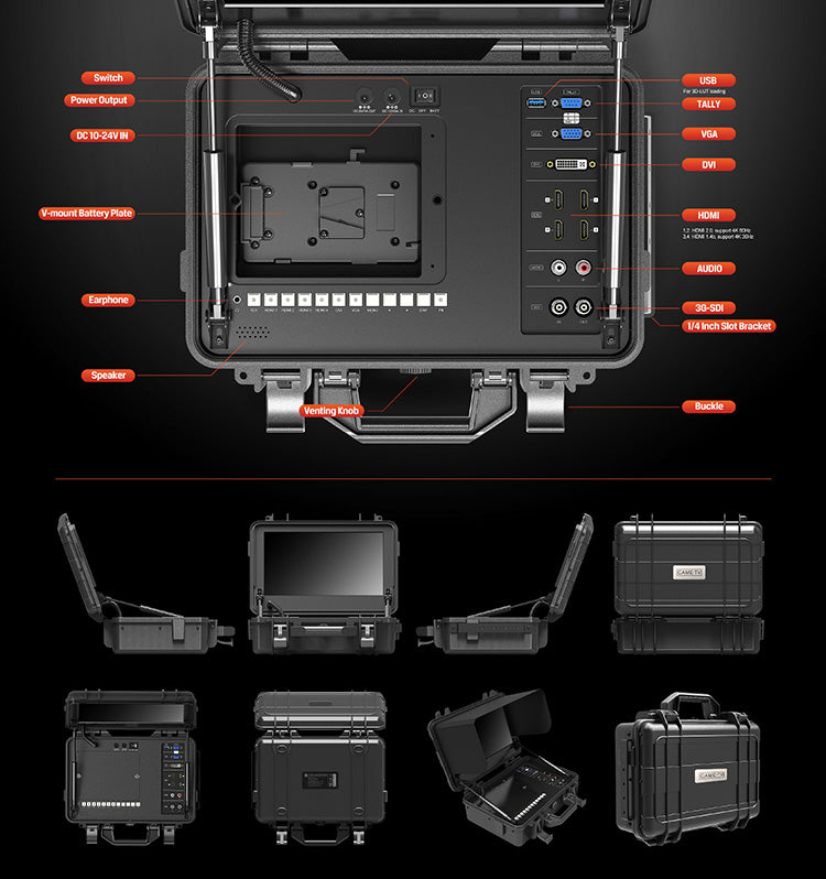 "12.5"" 4K HDMI Broadcast Director Monitor with SDI, HDR and 3D LUTS"