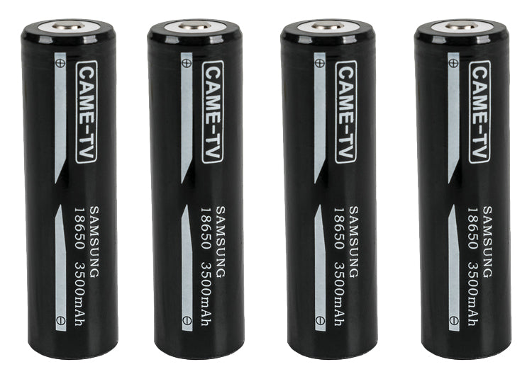 18650-4PACK, Includes 4 pcs 18650 and 1 pcs Battery Charger