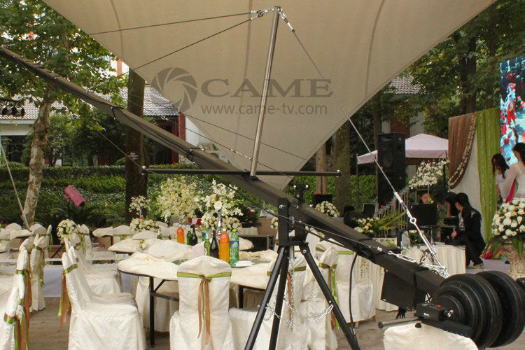 32.8ft Pan Tilt Head 3 kilo Camera Crane Jib