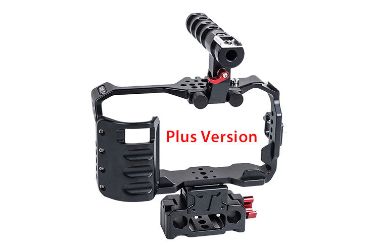CAME-TV BMPCC Cage With Grip And Rod Base  For BlackMagic Pocket Cinema Camera