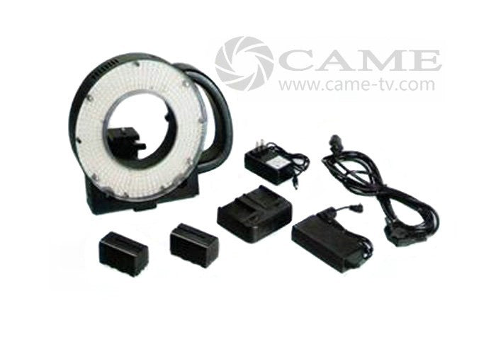 Batteries + 411 Ring LED Video Light Panel Studio Film Lighting