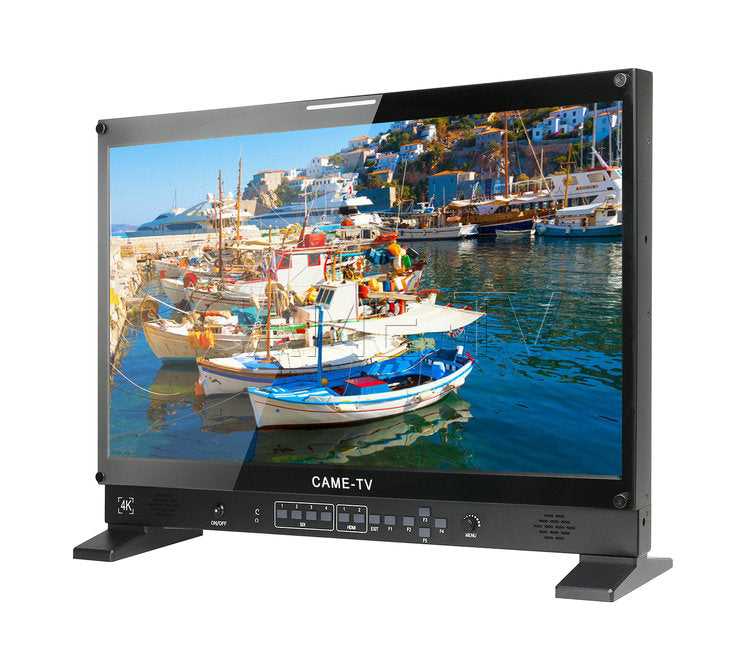 CAME-TV Portable Case 4K 24 Inch HDMI  SDI Multi-view Monitor 3840*2160