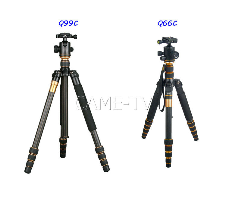 CAME-TV Q99C Q66C Carbon Fiber Tripod Monopod
