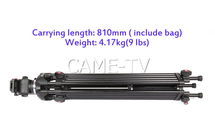 CAME-TV Video Tripod Load 5 Kg 11 Lbs Aluminium Fluid Head