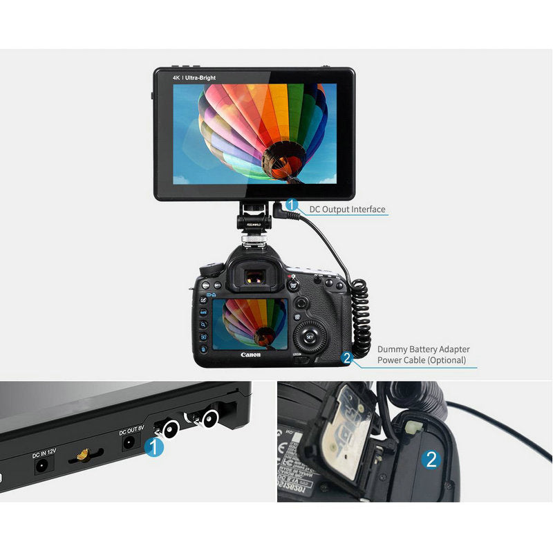 CAME-TV 7 Inch Ultra Bright 2200nit Touch Screen Field Monitor with 3D Lut Waveform