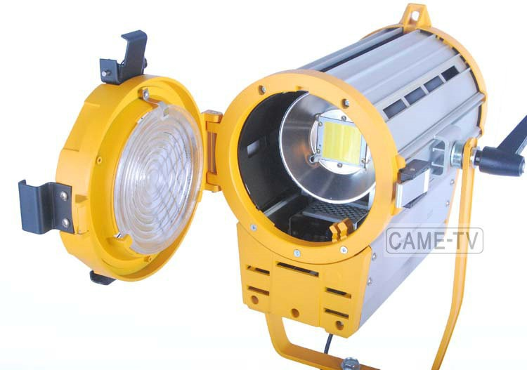 Dimmable + 100W LED Fresnel Light Offers Focusable, Cool Light