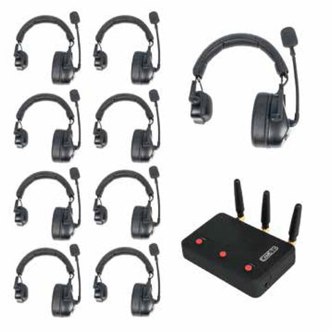 Up to 9 Headsets with Hub