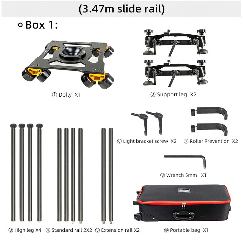 CAME-TV Remote Controlled Slider For DJI RS2 Gimbal