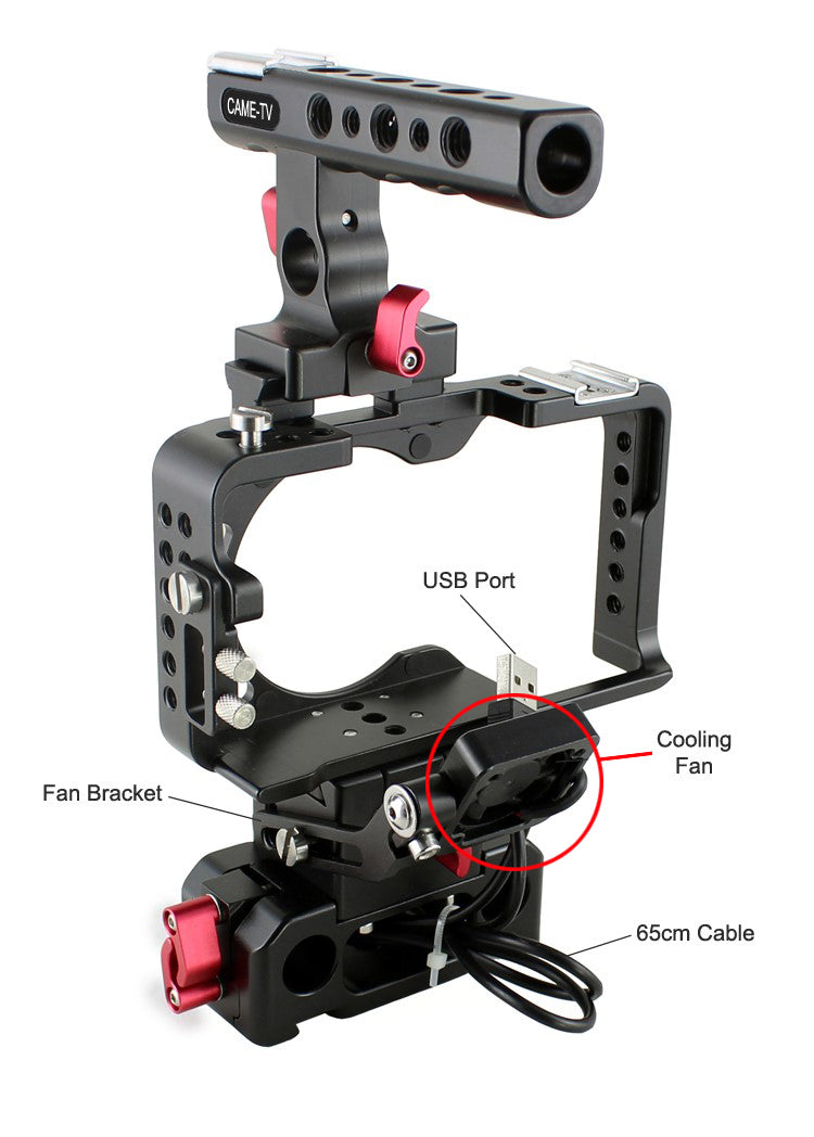CAME-TV Rig for Sony a6300 with fan