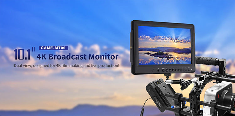 CAME-MT06 4K Broadcast Monitor with HDMI2.0 3G-SDI IPS