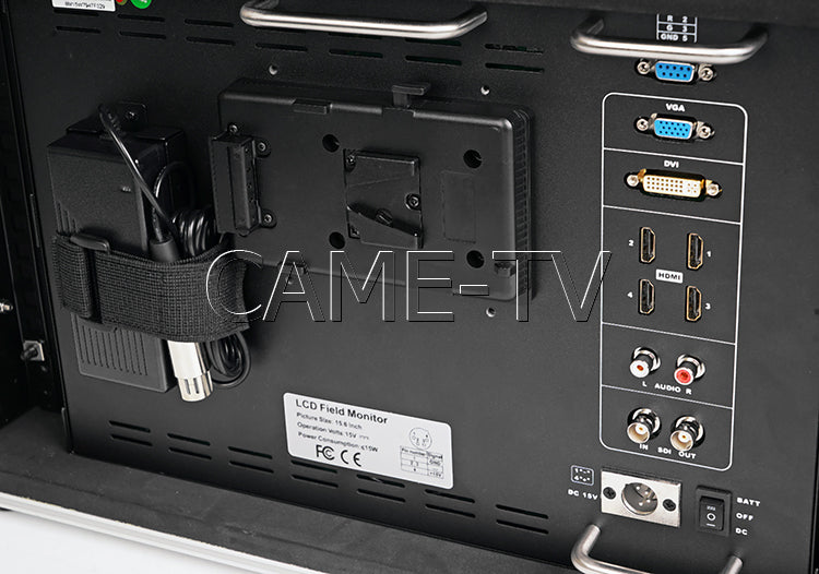 CAME-TV 15.6 Inch 4K Broadcast Director Monitor Carry-On Rackable