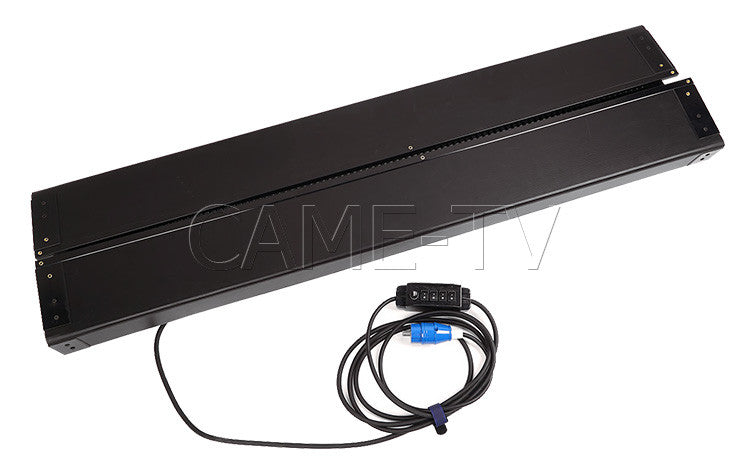 CAME-TV 2Kits 4ft 4bank Fluorescent Light + Ballast As Kinoflo + Flycase