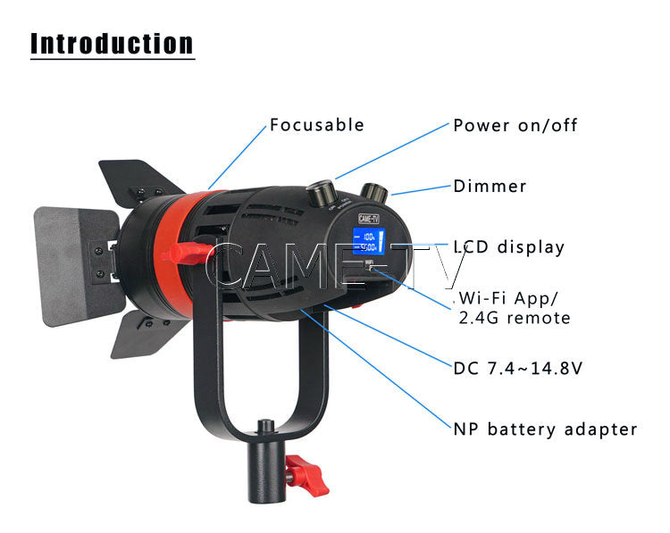 CAME-TV Boltzen 55w Fresnel Led Light
