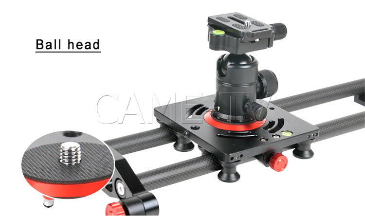 CAME-TV Camera Slider Carbon Fiber 10 Bearing Carriage Various Lengths