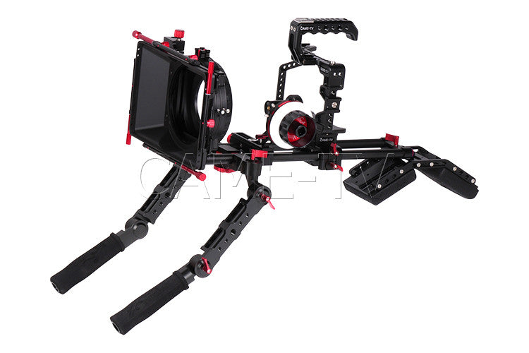 CAME-TV Protective Cage for GH5 Camera Rig With Hand Grip Support