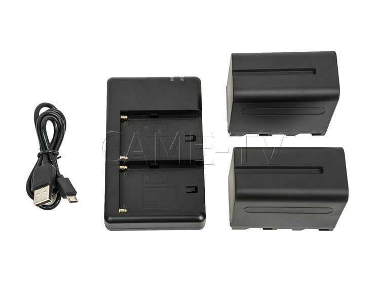 CAME-TV 2X CA-F970 Battery + FM50 USB Battery Charger Kit
