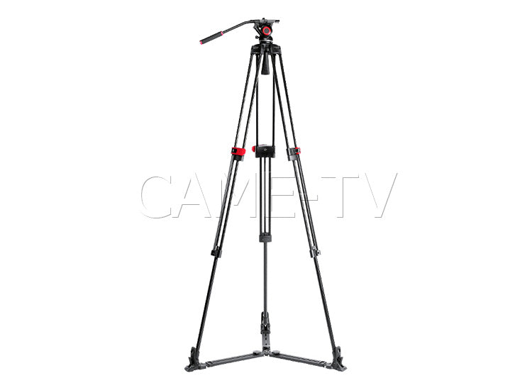 CAME-TV Aluminum Fiber Video Tripod With Fluid Bowl Head And Spreader Max Load 22 Lbs 605A