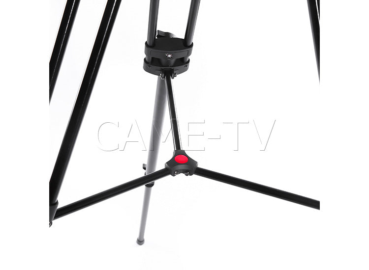 CAME-TV Aluminum Fiber Video Tripod With Fluid Bowl Head And Spreader Max Load 22 Lbs 606A