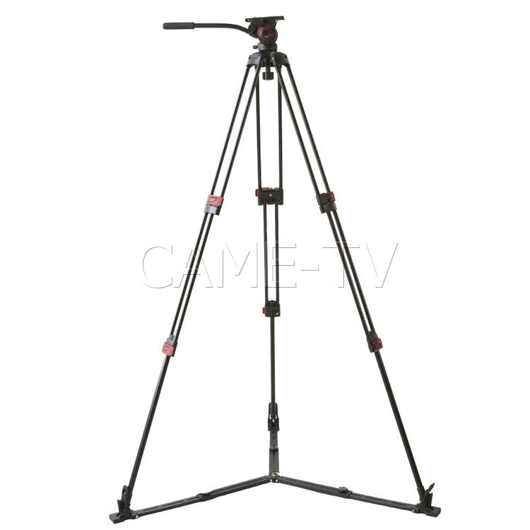 CAME-TV Aluminum Video Tripod With Fluid Bowl Head And Spreader Max Load 33 Lbs