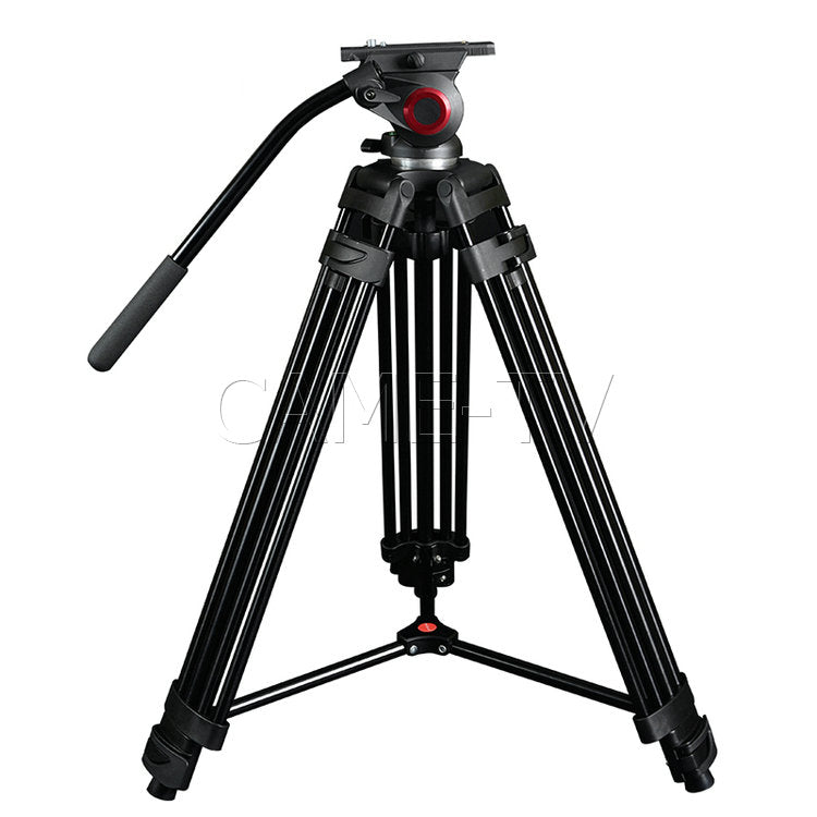 CAME-TV Aluminum Video Tripod With Fluid Head Max Load 22 Lbs