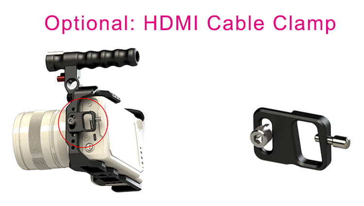 CAME-TV BMPCC 4K Half Cage Optional HDMI Clamp