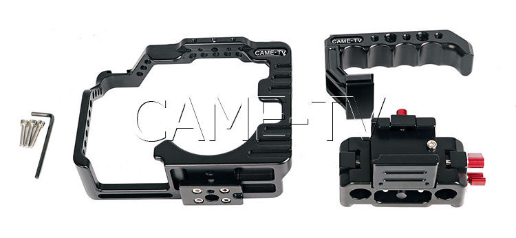 CAME-TV Protective Cage for GH5 Camera Rig w/ Hand Grip Support