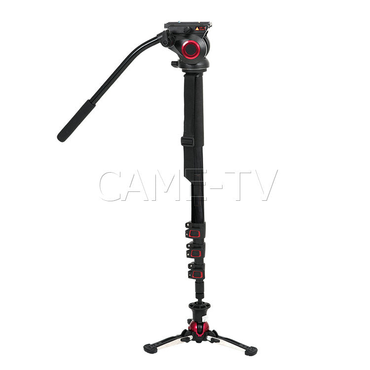 CAME-TV Carbon Fiber Monopod With Pivoting and Lockable Foot Stand