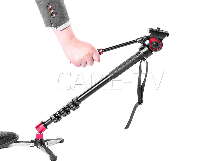 CAME-TV Carbon Fiber Monopod With Pivoting Foot Stand