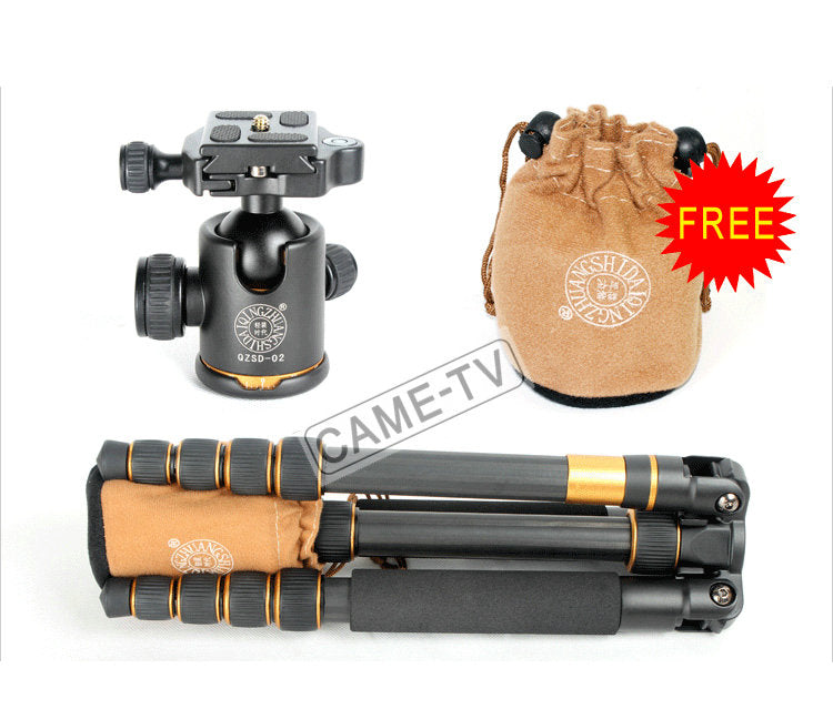 CAME-TV Q66C Carbon Fiber Tripod Monopod