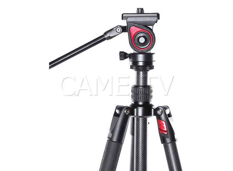 CAME-TV Carbon Fiber Tripod With Fluid Head Max Load 11 Lbs 801C