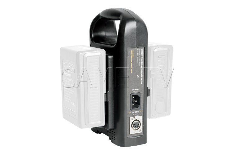 CAME-TV Dual V-Mount Battery Charger and Power Supply High DC Out