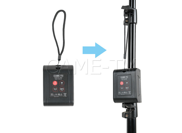 CAME-TV Mini 99 Lightweight Battery with 2 D-TAP & 1 USB 5V Outlets