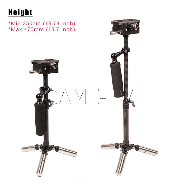 CAME-TV P06 Carbon Fiber Stabilizer Suitable for DSLR Cameras