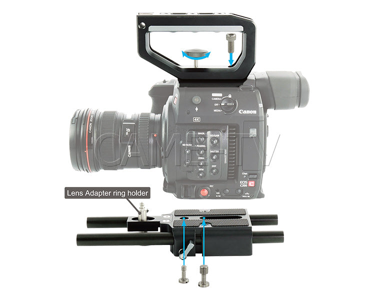 CAME-TV Shoulder Rig For Canon EOS C200