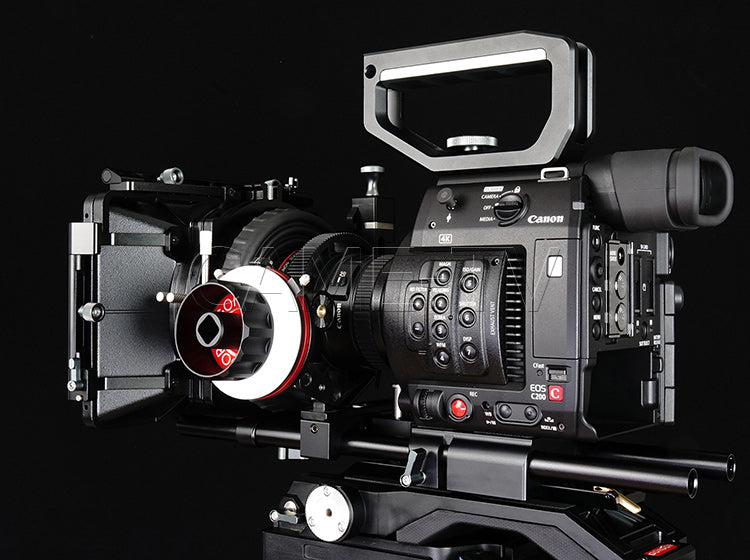 CAME-TV Shoulder Rig For Canon EOS C200 With Mattebox Follow Focus