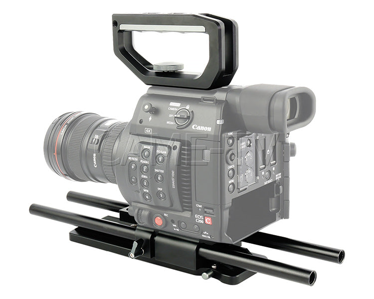 CAME-TV Top Handle And Base Plate Kit For Canon EOS C200