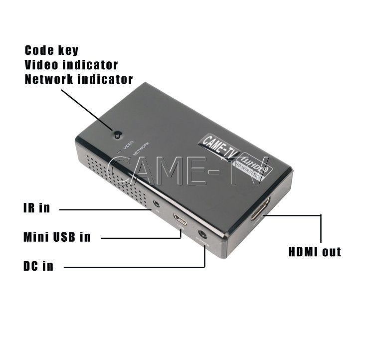 50m Wireless HD Video Transmitter Reveiver with Remote Control