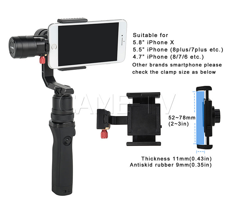 SPRY Gimbal smartphone clamp