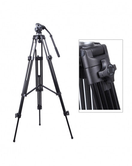 1.8 Meter E717 Fluid Pan Tilt Head Professional Video Tripod