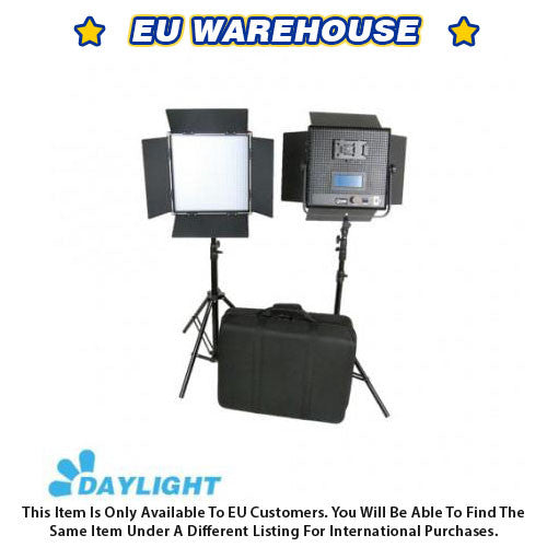 CAME-TV High CRI 2 X 1024 LED Video 5600K Broadcast Panel Light - European Warehouse